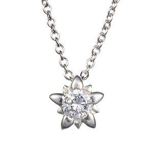 一粒ダイヤモンド ネックレス k18 ゴールド 18k 18金 星 スター ダイヤモンド 0.1ct ソリティア ペンダント レディース ジュエリー プレゼント eternally