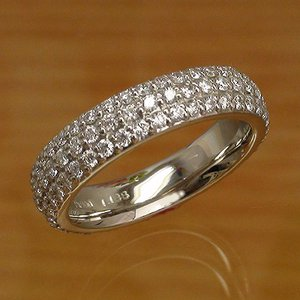 マイクロパヴェ ダイヤモンド リング フルエタニティリング 指輪 プラチナ900 pt900 レディース ジュエリー アクセサリー|eternally