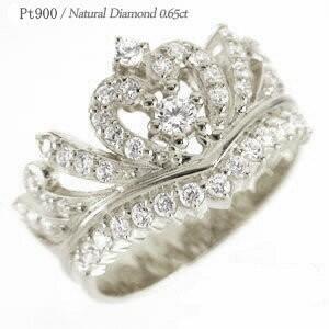 ティアラ ダイヤモンド リング 0.65ct ダイヤモンド リング 指輪 王冠 プラチナ900 pt900 レディース ジュエリー アクセサリー|eternally