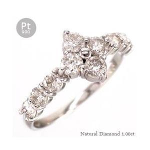 ダイヤモンド リング プラチナ900 pt900 1ct 指輪 テンダイヤモンドフラワー レディース アクセサリー|eternally