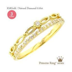 ダイヤモンド リング 0.1ct ピンキーリング 指輪 k18ゴールド 18金 レディース ジュエリー アクセサリー|eternally