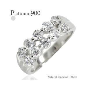 ダイヤモンド プラチナ900 pt900 リング 1ct ハーフエタニティリング 指輪 テンダイヤモンド レディース アクセサリー|eternally