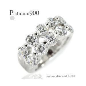 ダイヤモンド 3ct ハーフエタニティリング プラチナ900 pt900 指輪 リング テンダイヤモンド レディース アクセサリー|eternally