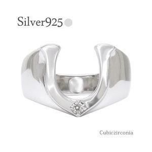 sv925 馬蹄リング シルバーリング ホースシュー 指輪 シルバー925 メンズ レディース ジュエリー アクセサリー|eternally