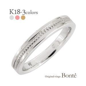 ミル打ち 地金 メタル リング k18ゴールド 18金 3mm幅 指輪 結婚指輪 男女兼用 レディース ジュエリー アクセサリー|eternally