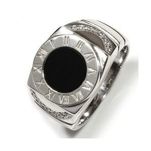 オニキス メンズリング 印台リング シルバーリング メンズ 指輪 シルバー925 sv925 カジュアル レディース ジュエリー アクセ アクセサリー プレゼント|eternally