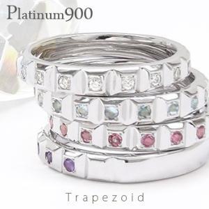 カラーストーンリング pt900 プラチナ900 ハーフエタニティリング 誕生石 指輪 レディース ジュエリー アクセサリー|eternally