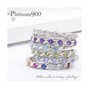 プラチナ900 pt900 誕生石 ハーフエタニティリング 指輪 リング レディース ジュエリー アクセサリー|eternally