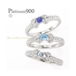 pt900カラーストーンリング 誕生石 ダイヤモンド 0.15ct プラチナ900 指輪 レディース ジュエリー アクセサリー|eternally