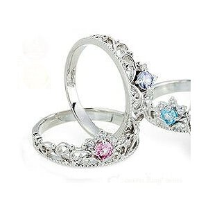 プラチナ900 pt900 ダイヤモンド リング 0.03ct ティアラ 冠 小指 ピンキーリング 誕生石 指輪 レディース ジュエリー クリスマス プレゼント ギフト|eternally