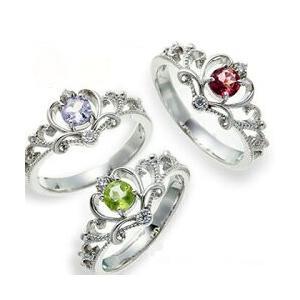 プラチナ900 pt900 誕生石 ダイヤモンドリング 0.05t ティアラ 冠 指輪 レディース ジュエリー クリスマス プレゼント ギフト|eternally