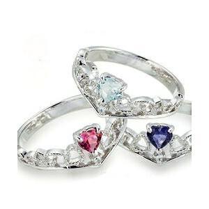プラチナ900 pt900 誕生石 ダイヤモンドリング 0.01ct ハート ティアラ 冠 小指 ピンキーリング 指輪 レディース ジュエリー クリスマス プレゼント ギフト|eternally