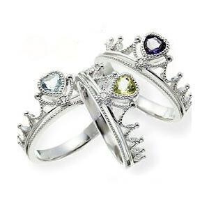 プラチナ900 pt900 誕生石 ダイヤモンドリング 0.02ct ハート ティアラ 冠 小指 ピンキーリング 指輪 レディース ジュエリー クリスマス プレゼント ギフト|eternally