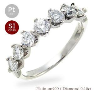ダイヤモンド リング 1ct プラチナ900 pt900 ハーフエタニティリング 指輪 レディース ジュエリー アクセサリー|eternally