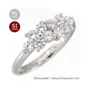 ダイヤモンド リング プラチナ900 pt900 0.7ct 指輪 テンダイヤモンド フラワー レディース ジュエリー アクセサリー|eternally