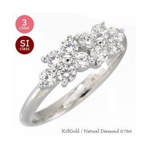 指輪 テンダイヤモンド リング フラワー ダイヤモンド 0.7ct k18ゴールド 18金 レディース ジュエリー アクセサリー|eternally
