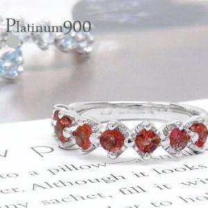 pt900カラーストーンリング プラチナ900 誕生石 3.0mm ハーフエタニティリング 指輪 レディース ジュエリー アクセサリー|eternally