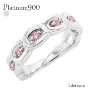 ホースシュー プラチナ900 pt900 馬蹄 誕生石 指輪 ゆびわ カラーストーンリング レディース ジュエリー アクセサリー|eternally