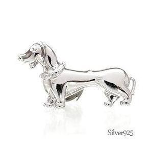 タイニーピン ラベルピン ピンバッジ ブローチ シルバー925 犬 いぬ ダックスフント 男女兼用 レディース アクセサリー|eternally