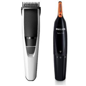 セット買いフィリップス ヒゲトリマー充電式1.0mm幅 11段階長さ調節BT3206/14 + 鼻毛...