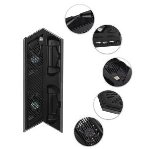 (ケテン)Keten PS4 PRO 縦置きスタンド コントローラー充電スタンド 2台同時充電 US...