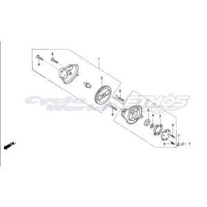 15332-436-000 ローター,オイルポンプアウター HRC ホンダレーシング|ethosdesign