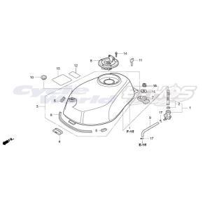 17510-NX2-000 タンクCOMP,フューエル HRC ホンダレーシング|ethosdesign