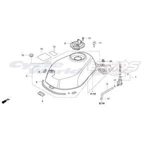17521-NX2-000 プロテクター,フューエルタンク HRC ホンダレーシング|ethosdesign