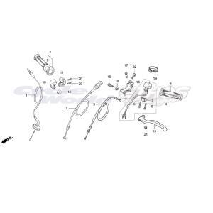 17950-NX2-000 ケーブルCOMP,チョーク HRC ホンダレーシング|ethosdesign