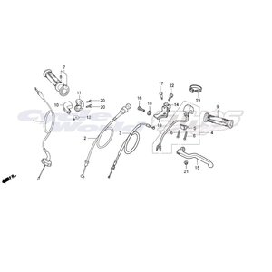 22870-NX2-000 ケーブルCOMP,クラッチ HRC ホンダレーシング|ethosdesign