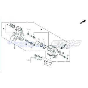 43150-GT4-305 キャリパー サブASSY,リア HRC ホンダレーシング ethosdesign