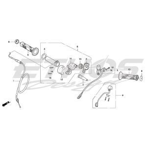MONTESA HRC 53160-NN4-000 スロットル サブ ASSY|ethosdesign