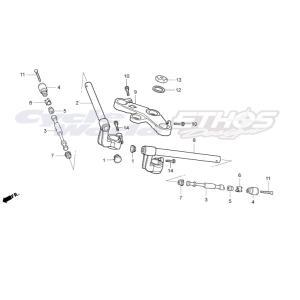 53300-NX2-000 ブリッジCOMP,フォークトップ HRC ホンダレーシング|ethosdesign