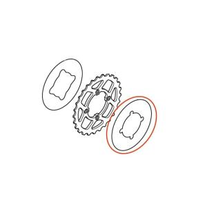 87149-NN4-L70 MONTESA COTA300RR スプロケットデカール 外側 MFJレギュレーション対応|ethosdesign