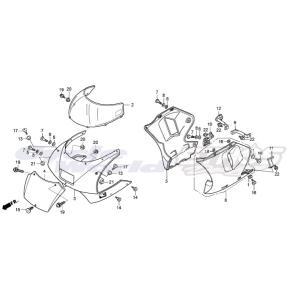 90106-NF4-770 ボルト,カウルセット 6×13 HRC ホンダレーシング ethosdesign