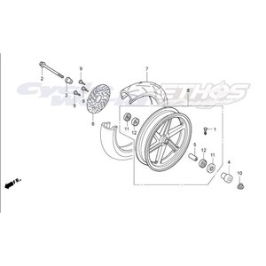 44650-KTK-000ZA ホイールサブASSY,フロント NH105 HRC ホンダ ethosdesign