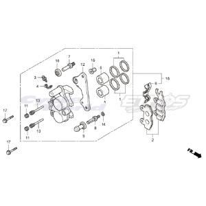 45250-GT4-305 キャリパーサブASSY,Rフロント HRC ホンダ ethosdesign