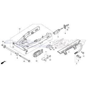 52141-GT4-970 カラー,リアフォークピボット HRC ホンダレーシング|ethosdesign