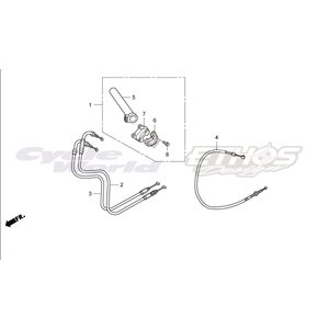 53141-MT7-000 パイプ,スロットルグリップ HRC ホンダレーシング ethosdesign