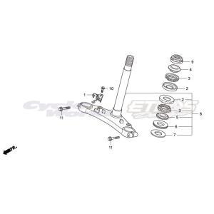 53214-GJG-C20(53214-001-010) ダストシール,ステムベアリングヘッド HRC ホンダ ethosdesign