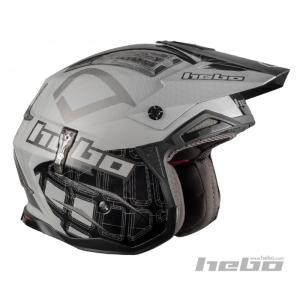 HC1026 ZONE4 PATRICK ブラック HEBO エボ トライアルヘルメット MFJ公認|ethosdesign