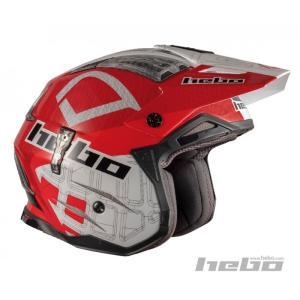 HC1026 ZONE4 PATRICK レッド HEBO エボ トライアルヘルメット MFJ公認|ethosdesign