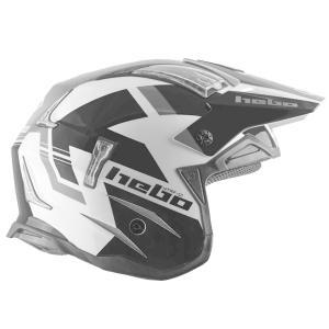 HC1028 ZONE4 BALANCE バランス ブラック HEBO エボ トライアルヘルメット MFJ公認レース専用|ethosdesign