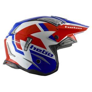 HC1028 ZONE4 BALANCE バランス レッド/ブルー HEBO エボ トライアルヘルメット MFJ公認レース専用|ethosdesign