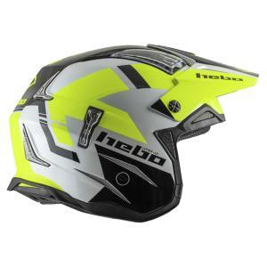 HC1028 ZONE4 BALANCE バランス フローイエロー HEBO エボ トライアルヘルメット MFJ公認レース専用|ethosdesign