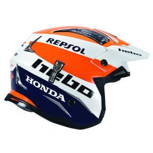 HC1051 ZONE4 MONTESAチーム HEBO エボ トライアルヘルメット MFJ公認|ethosdesign