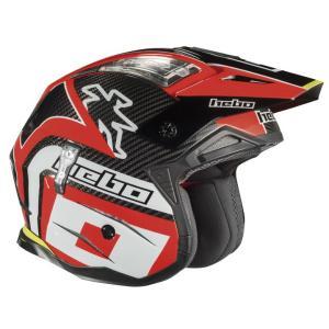 HC1061R ZONE4 CARBON HEBO エボ トライアルヘルメット カーボン レッド|ethosdesign