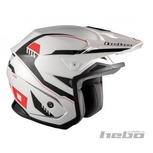 HC1118 ZONE5 PURSUIT パシュート ホワイト HEBO エボ トライアルヘルメット|ethosdesign