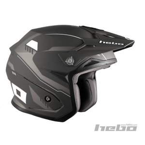 HC1118 ZONE5 PURSUIT パシュート ブラック HEBO エボ トライアルヘルメット|ethosdesign
