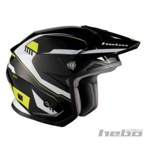 HC1118 ZONE5 PURSUIT パシュート ブラック/イエロー HEBO エボ トライアルヘルメット|ethosdesign